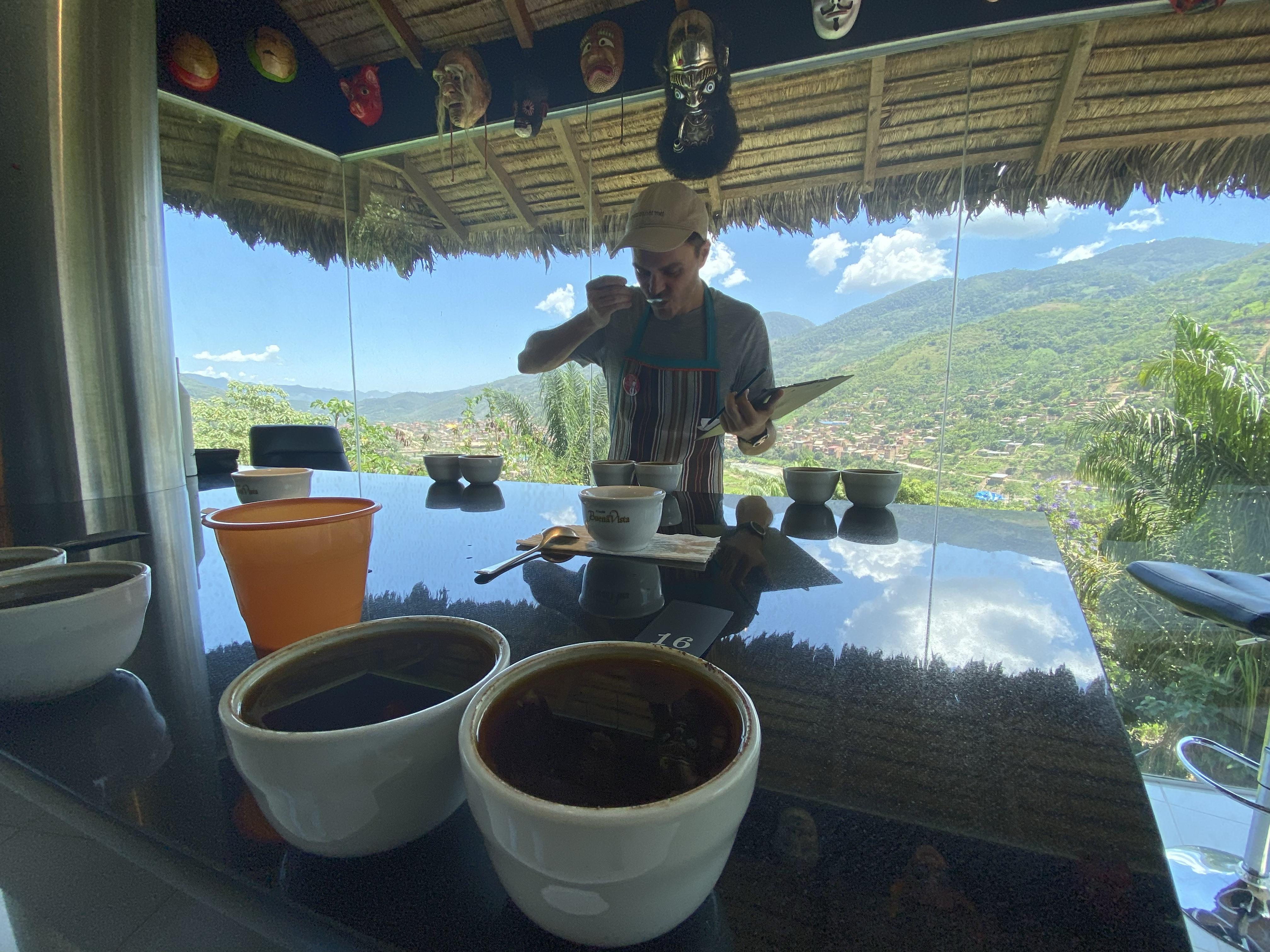 Casper cupping at this beautiful location