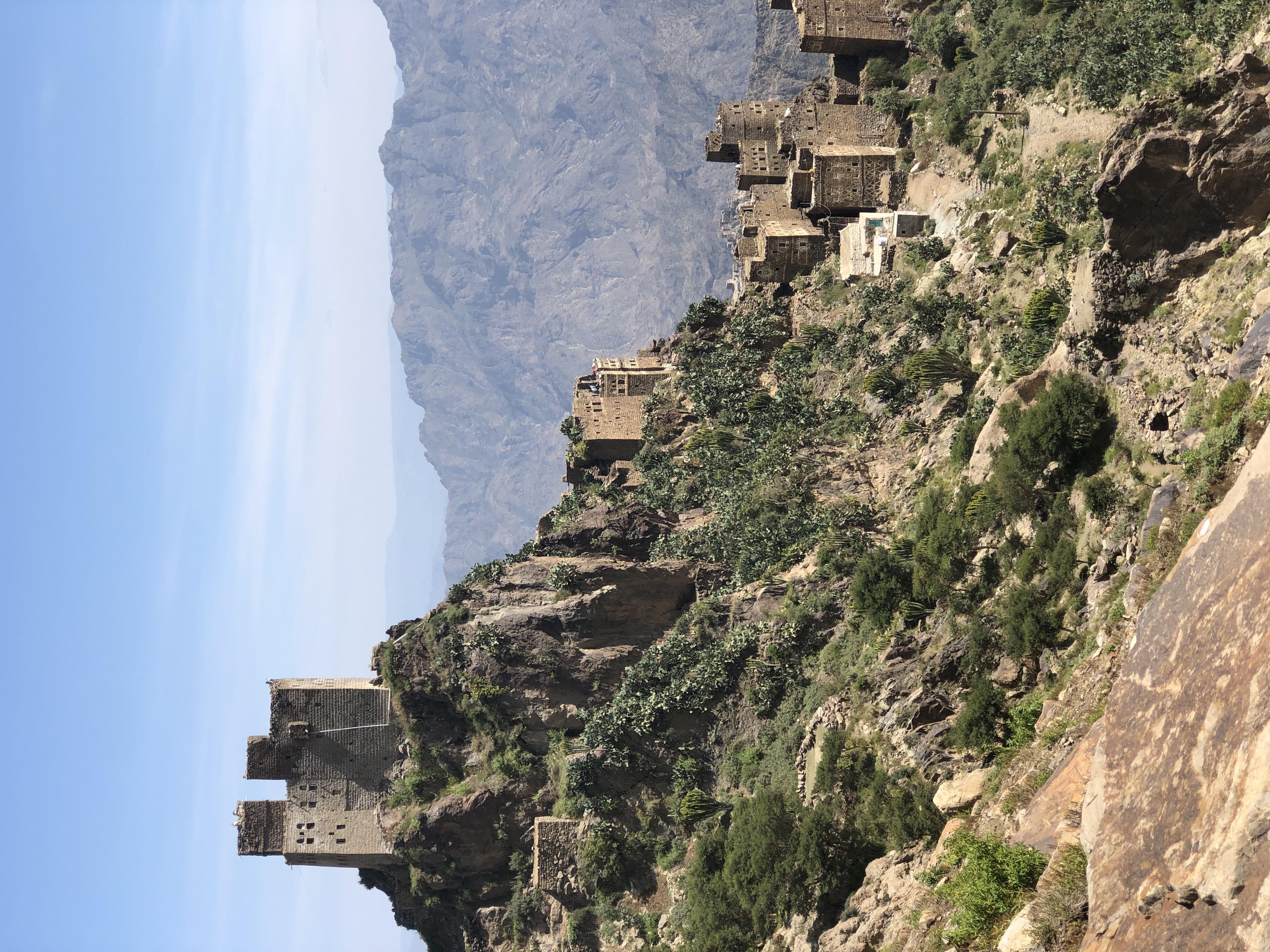 The mountanous scenery of Yemen
