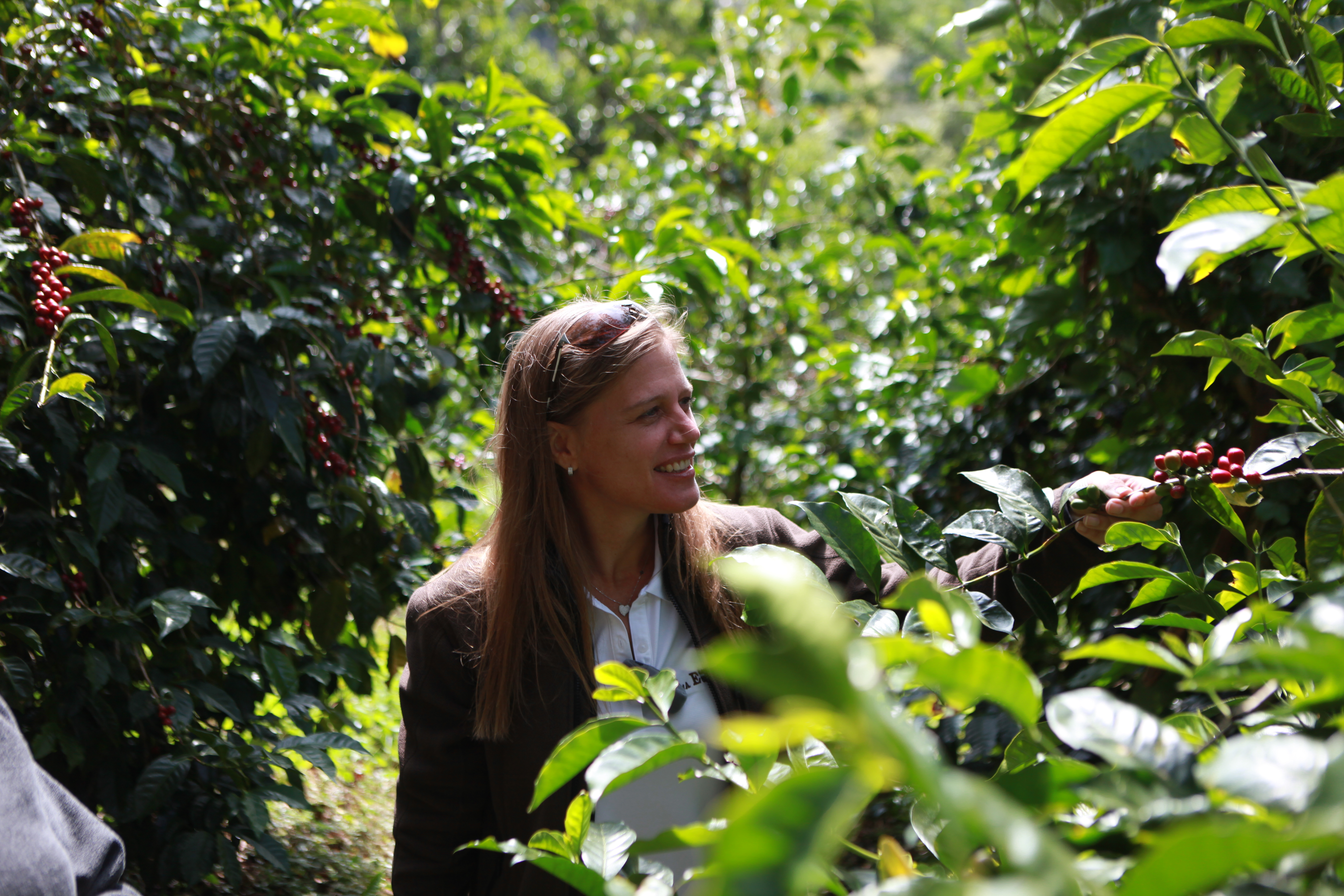 Rachel Peterson takes part in all the steps of the coffee production