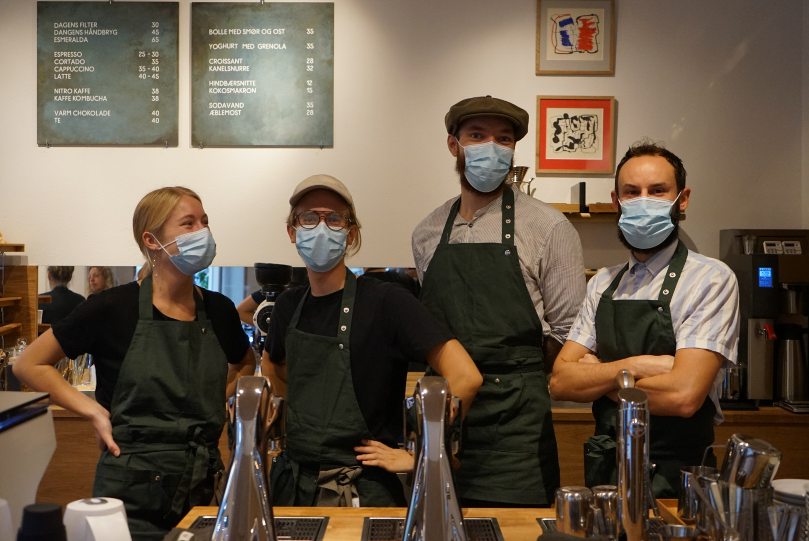 From left to right: Emma, Jon, Peter Ebdrup and Baptiste are part of the Sankt Hans Torv team
