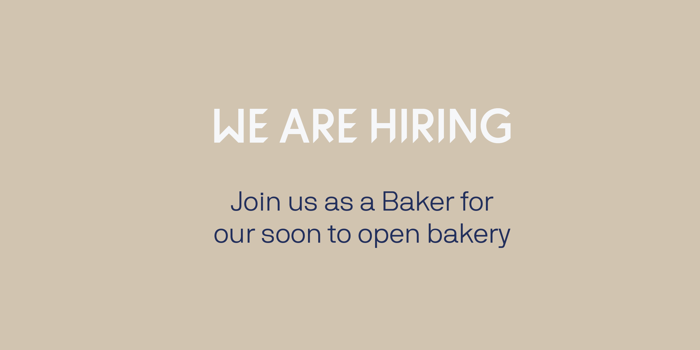 Join us as a baker